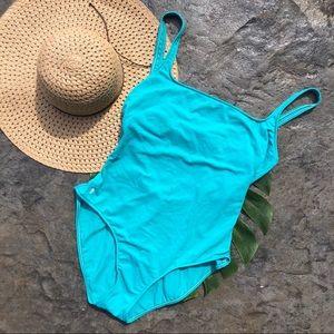 Ralph Lauren turquoise Martinique one piece